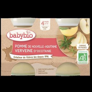 DESSERT FRUITS BÉBÉ BABYBIO PETITS POTS POMME