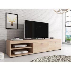 Genial MEUBLE TV ELSA Meuble TV Contemporain Décor Chêne   140 Cm ... Belles Idees