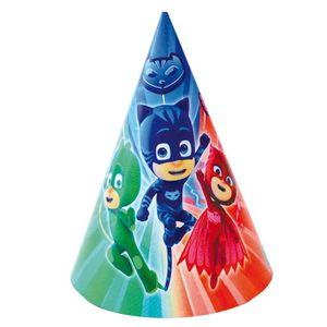 Piñata 6 Chapeaux de fête Pyjamasques 16 x 11 cm