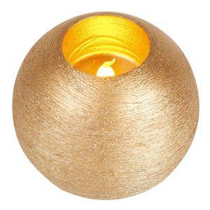 OBJETS LUMINEUX DÉCO  Bougie de Noël lumineux boule diamètre 10 cm Or
