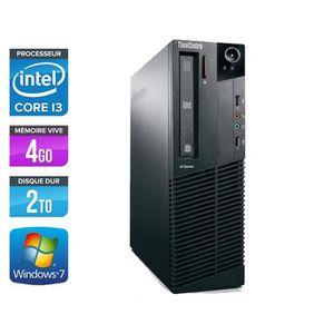 UNITÉ CENTRALE  Lenovo ThinkCentre M81 -Intel Core i3 -3,1GHz -2To