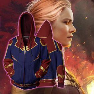 BLOUSON Captain Marvel Pull à capuche Impression numérique