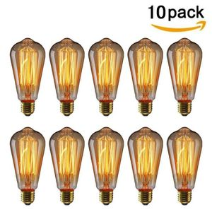 AMPOULE - LED 10 Pack E27 Edison Ampoules à Incandescence Vintag