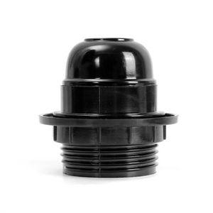 CULOT D'AMPOULE 10PCS ES E27 Douille d'Ampoule Adaptateur Noir Pr