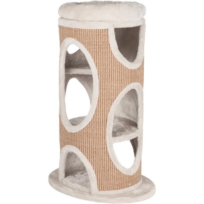 TRIXIE Cat Tower Osana 86cm - Gris clair et brun - Pour chat