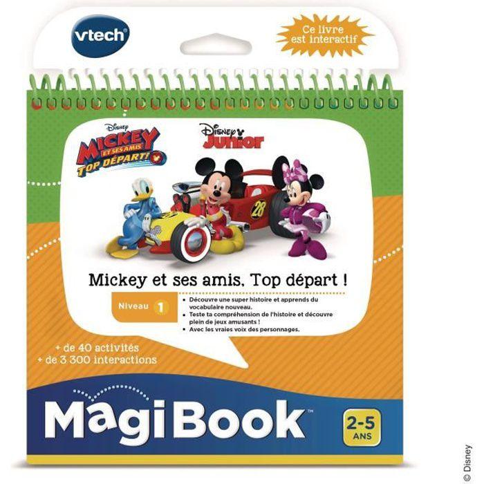 VTECH - Livre Interactif Magibook - Mickey et ses Amis, Top Départ, Le travail en équipe