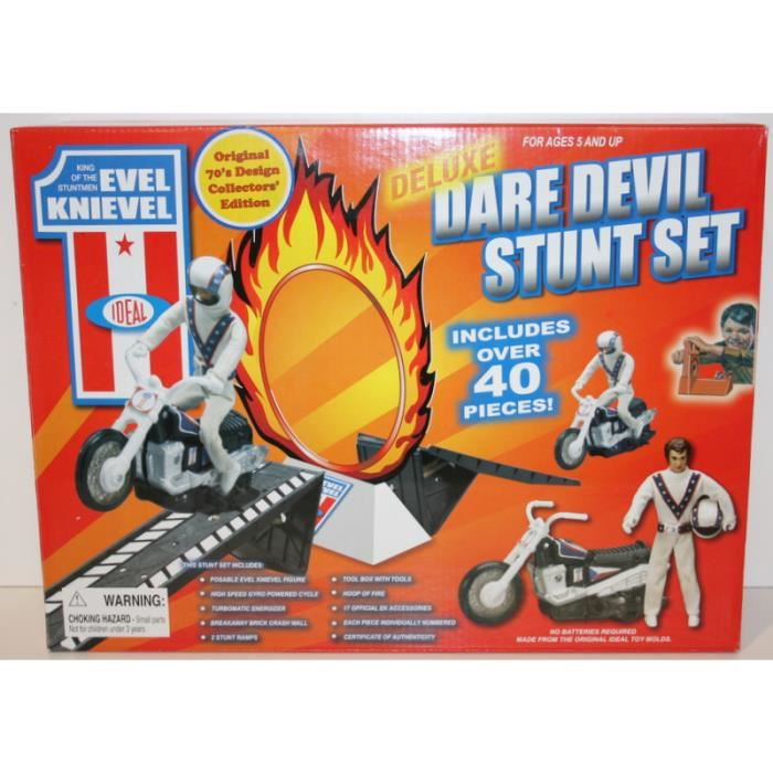 Knievel Dare Poof Set Deluxe Devil Mint Unopened Stunt Evel edCoxB