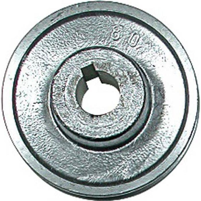 poulie  u00e0 gorge aluminium 80 mm axe 19 m moteur et