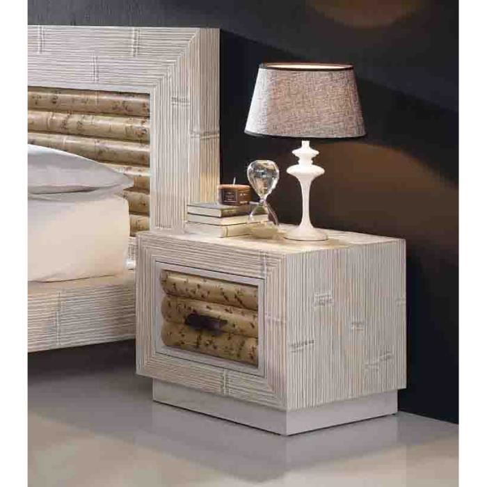 table de nuit en bambou mod le bela achat vente chevet table de nuit en bambou m. Black Bedroom Furniture Sets. Home Design Ideas