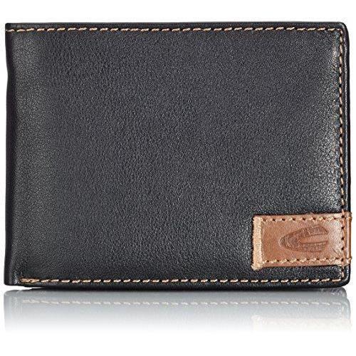 ec827c00ab88 Camel active California Portefeuille en cuir 12,5 cm Noir Noir 12,5x2x9,5