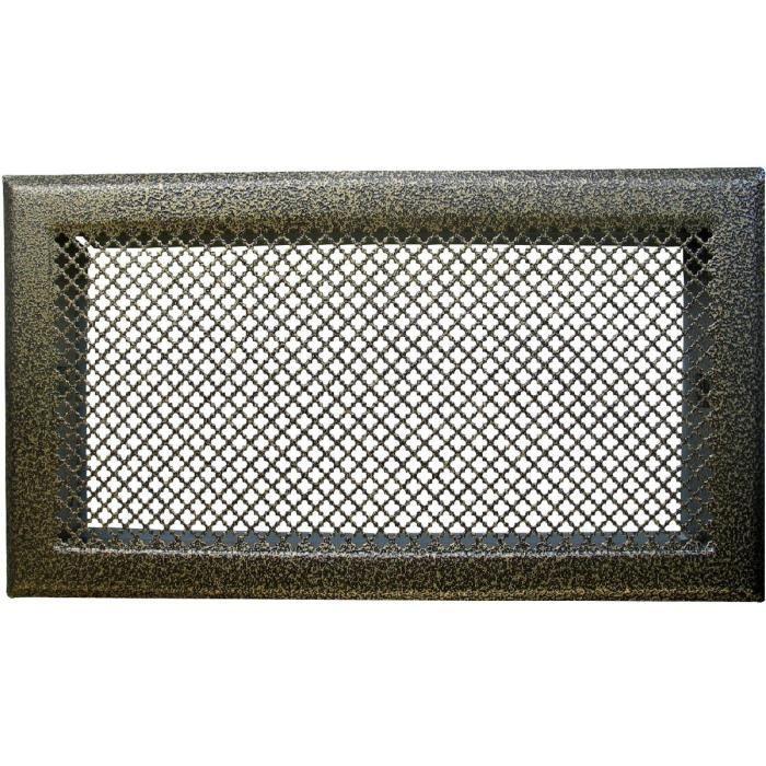 grille de chemin e avec pr cadre dmo bronze 345x195mm achat vente a ration grille de. Black Bedroom Furniture Sets. Home Design Ideas