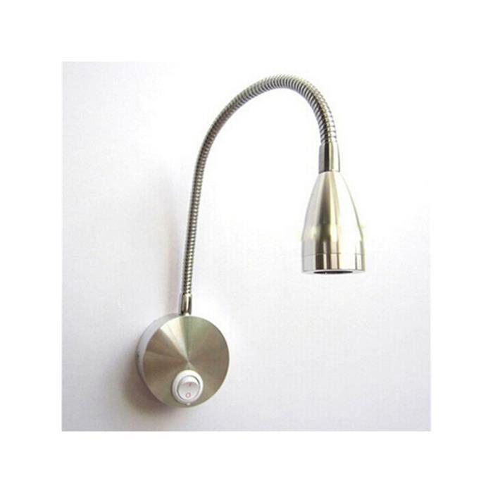 Ac 85 265v 3w 360 Degres Lampe Led Murale Bras Flexible Lampe De