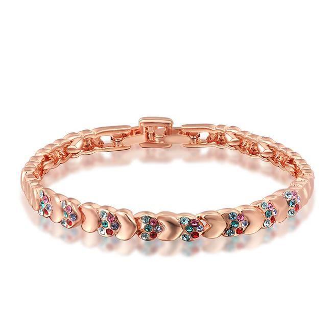 Or rose solidarité bracelet de diamants et de bijoux.