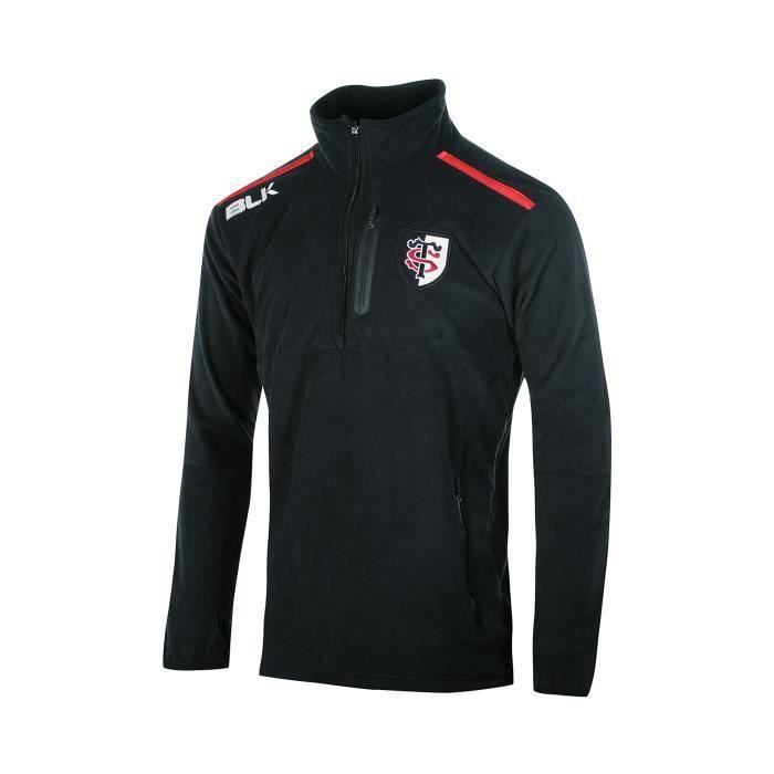 Polaire Stade Toulousain Noir Noir Noir - Achat   Vente veste de ... f385545201e