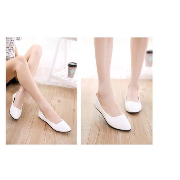 Chaussures Ballerine Femme en Cuir Verni jJs88rVTqv