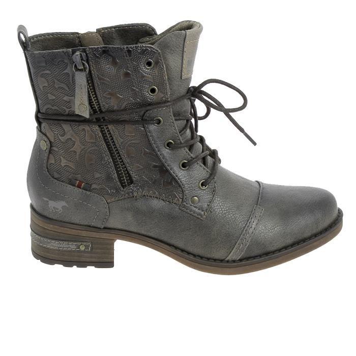 Lacets Boots Et 1229508 Bottine Marron Botte Mustang 4BHqUx1