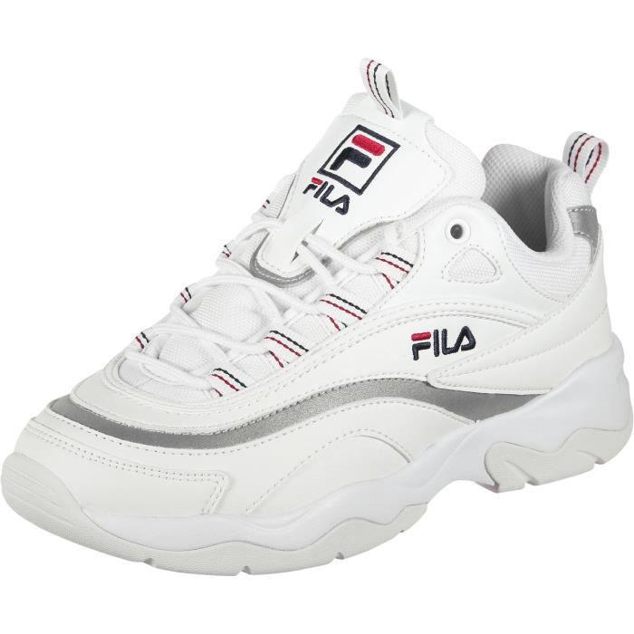 077369f2af5 Fila Ray Low Baskets Femme Blanc Blanc argent - Achat   Vente ...