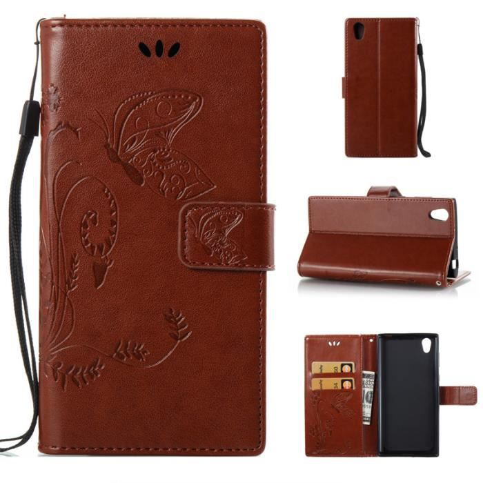 tui folio cuir Sony Xperia L1 Ue518XNbr