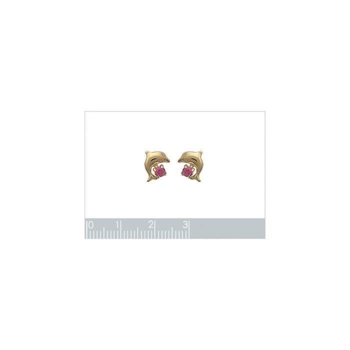 Isady - Mila Rose - Boucles doreilles - Plaqué or jaune 18K - Clous doreilles - Cristal