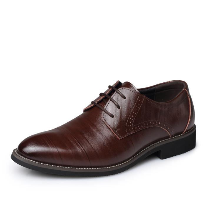 IZTPSERG Richelieu Cuir Chaussure Homme Marron