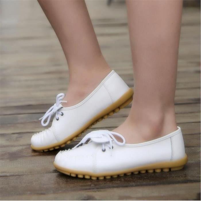 Mocassin Femmes Ultra Leger Antidérapant Chaussures BJYG-XZ041Noir35 rg2W9FH