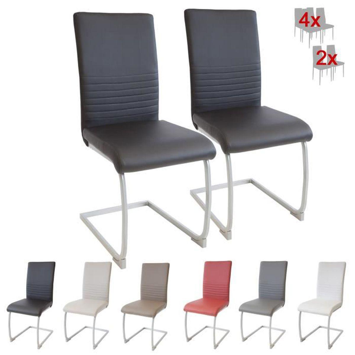 Albatros chaise cantilever murano lot de 2 chaises noir testé par sgs