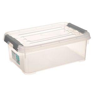 FINLANDEK Boîte de rangement avec clips - 4 L