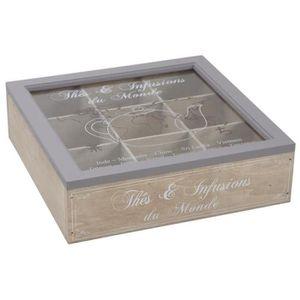 boite en bois compartimentee achat vente pas cher soldes d s le 10 janvier cdiscount. Black Bedroom Furniture Sets. Home Design Ideas