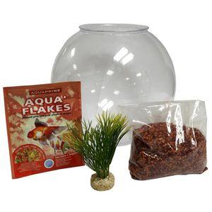 KIT HABITAT - COUCHAGE Kit aquarium 8 litres boule plastique 25cm.