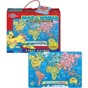 PUZZLE T.S.SHURE Puzzle Géant Carte Du Monde 24 Pcs 100X6