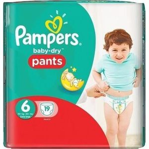 COUCHE PAMPERS Babydry pants Taille 6 - x19