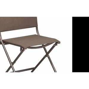 CHAISE Chaise Pliante En Acier Et Toile Globe Lot De 6