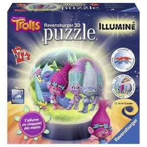 PUZZLE Ravensburger - 12138 - Puzzle - 3D Trolls Lumineux