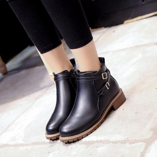 Femmes Chaussures Boots Hiver yini9121 Motorcycle Vintage Casual Automne Femme rwrIUR