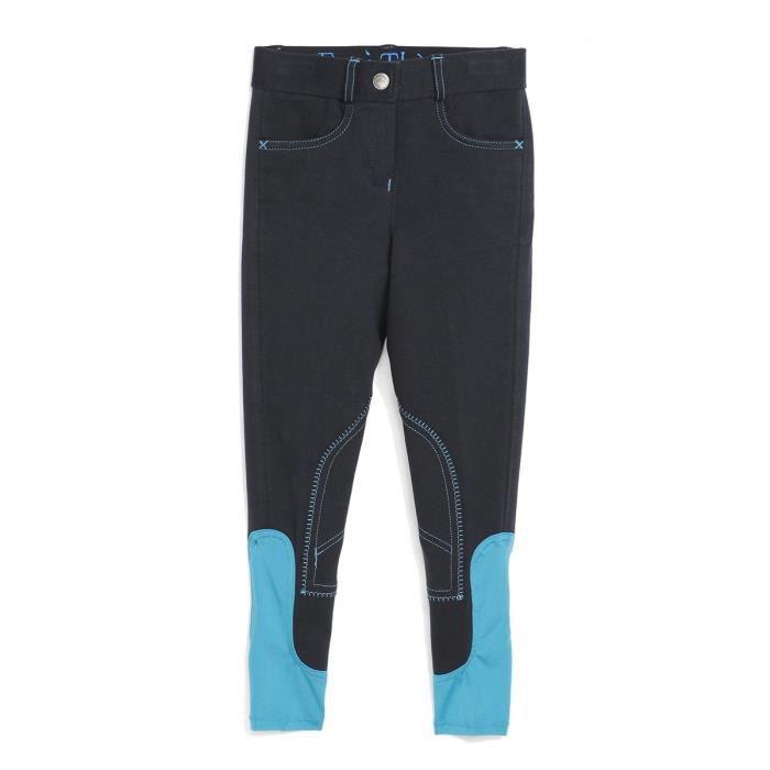 EQUI-THEME Pantalon d'équitation Pro Fun Line - bleu marine - enfant