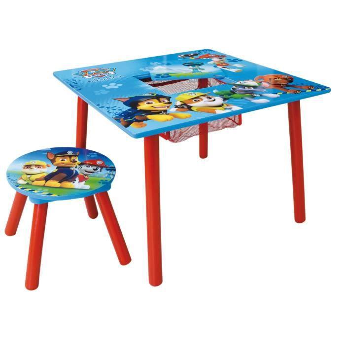 Fun House Pat Patrouille table activite+tabouret pour enfant