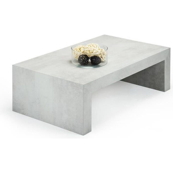 Mobilifiver Table Basse First H30 Ciment 90 X 54 X 30