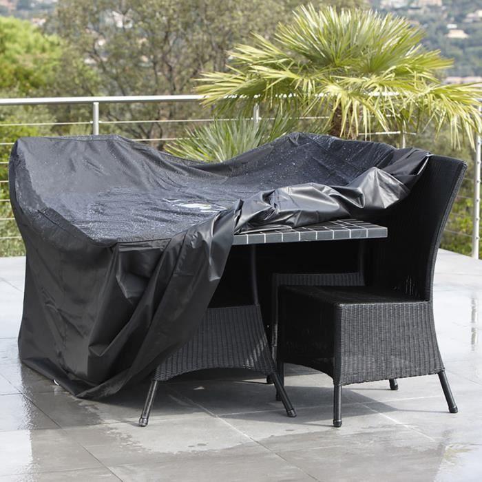 Bache Housse De Protection Pour Meubles De Jardin Noir 180 112 65cm
