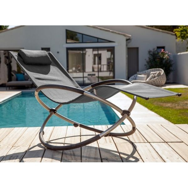 Fauteuil relax Cercle - Achat / Vente chaise longue Lot de 2 relax on chaise recliner chair, chaise sofa sleeper, chaise furniture,