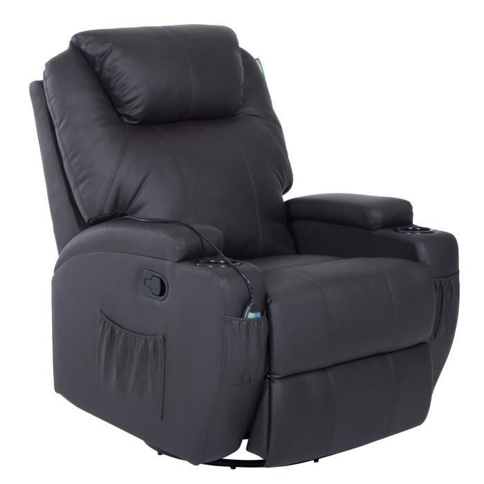 fauteuil massant de relaxation achat vente fauteuil massant de relaxation pas cher soldes. Black Bedroom Furniture Sets. Home Design Ideas