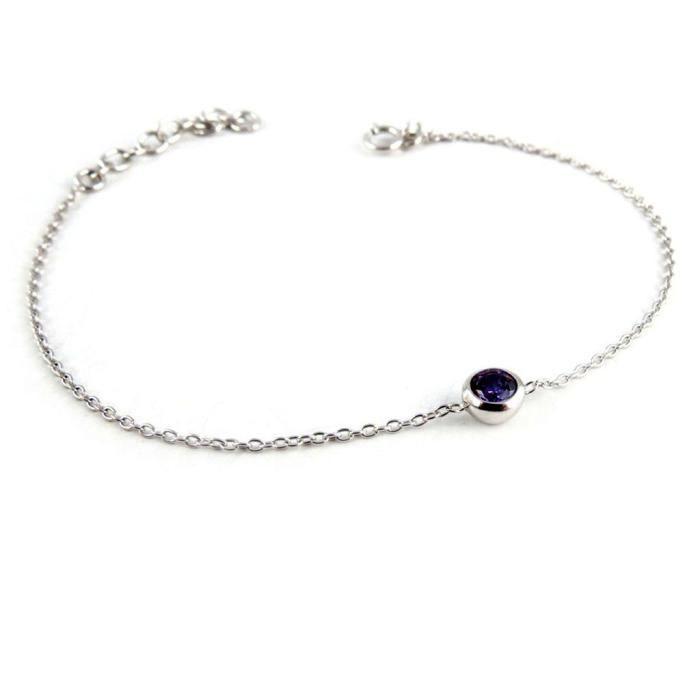 Bracelet Argent Unique violet