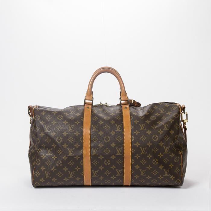 Louis Vuitton - Sac de voyage - Monogram Canvas Brown - 99 - Achat ... 6f67d81963d