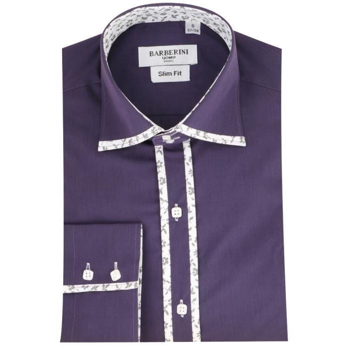 Achat Georges homme Vente Prune Violet chemise Chemise qPfxRwCq e21acfc497a