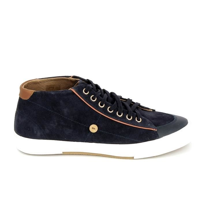 Faguo Chaussures Birchmid Suede Cuir Marine Faguo soldes 0zH4KXmb