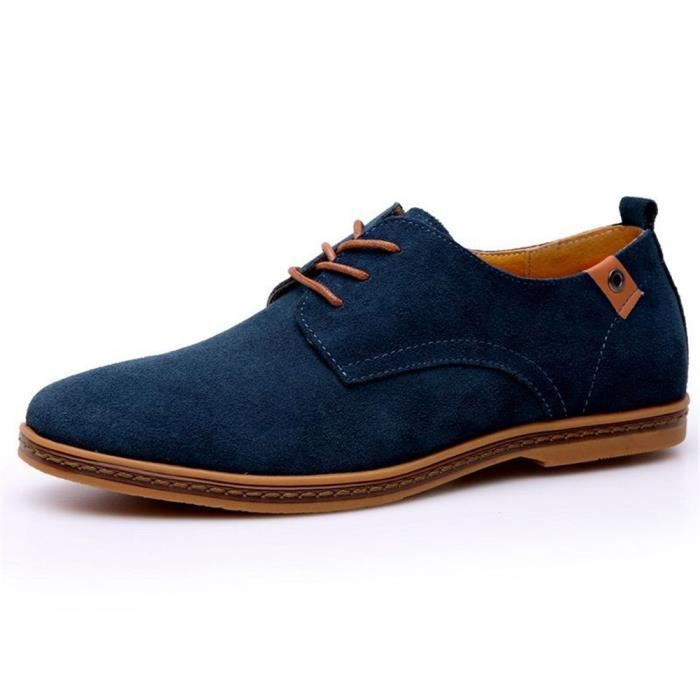 Taille 41 Leather CB04Z Shoes Driving Suede Classic Oxfords Casual Cc0w8x4Rq4