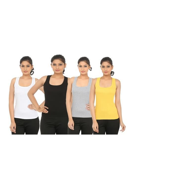40 Tank Bfky3 Taille Multi Femmes Color Pack Of Top 4 q70zE4w
