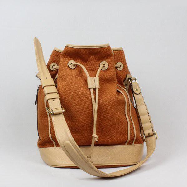Sac porté épaule bourse toile et cuir Texier 23207 (Gold)