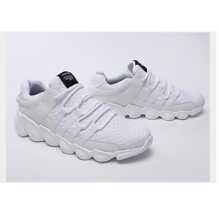 Baskets Homme Chaussure hiver Jogging Sport Ultra Léger Respirant Chaussures BBZH-XZ229Blanc45