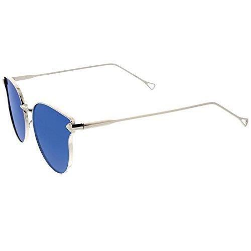 ... Metal Frame Arrow Temples Mirror Flat Lens Cat Eye Sunglasses 58mm DNBU0 7b201b6206a6