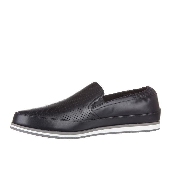 Slip on homme en cuir sneakersplume Prada